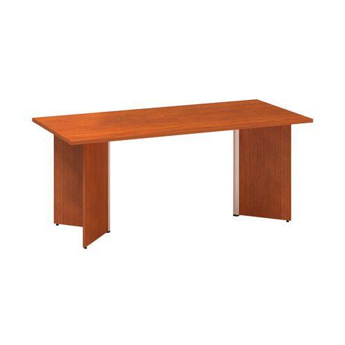 Konferenční stůl Alfa 490 s šedým podnožím, 180 x 80 x 73,5 cm,