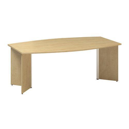 Konferenční stůl Alfa 490 s šedým podnožím, 200 x 110 x 73,5 cm,