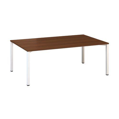 Alfa Office Konferenční stůl Alfa 420 s bílým podnožím, 200 x 120 x 74,2 cm, dezén ořech - Prodloužená záruka na 10 let