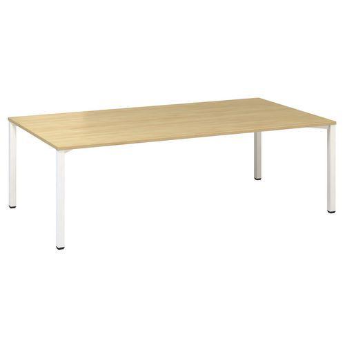 Konferenční stůl Alfa 420 s bílým podnožím, 240 x 120 x 74,2 cm,