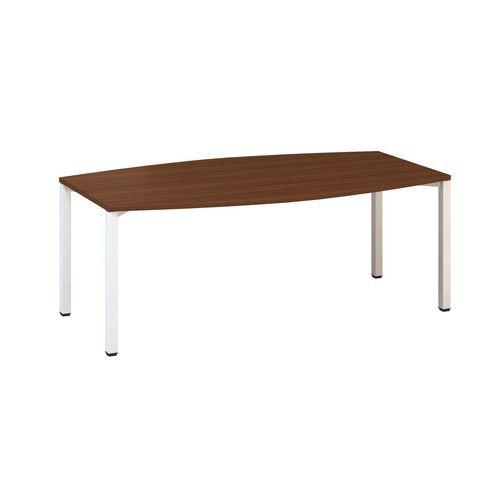 Konferenční stůl Alfa 420 s bílým podnožím, 200 x 110 x 74,2 cm,