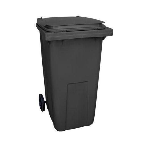 Plastová venkovní popelnice na tříděný odpad, objem 240 l, černá