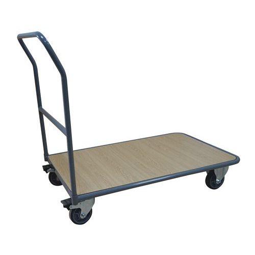 Plošinový vozík Manutan s madlem, do 250 kg, 94,5 x 98 x 55,2 cm