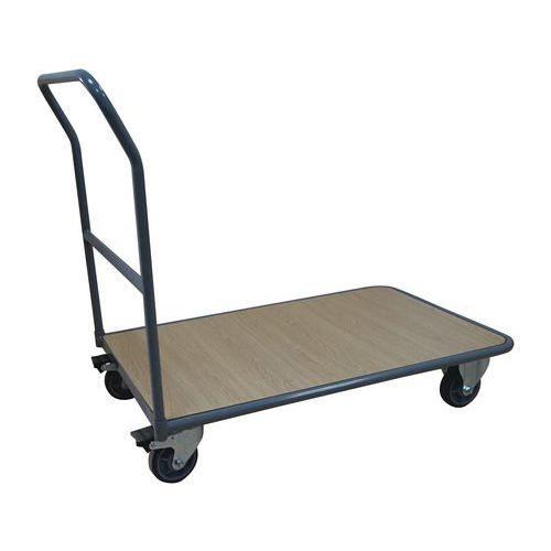 Plošinový vozík Manutan s madlem, do 250 kg, 95,5 x 112,3 x 65,2