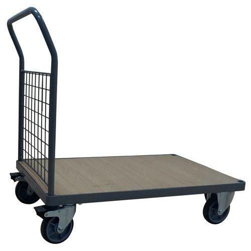 Plošinový vozík Manutan s madlem s drátěnou výplní, do 500 kg, 9