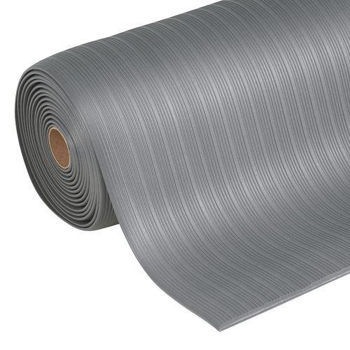 Protiúnavová průmyslová rohož Manutan s rýhovaným povrchem, šířk