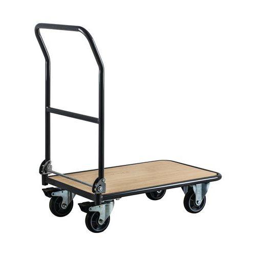 Plošinový vozík Manutan L720 se sklopným madlem, do 250 kg, 95 x