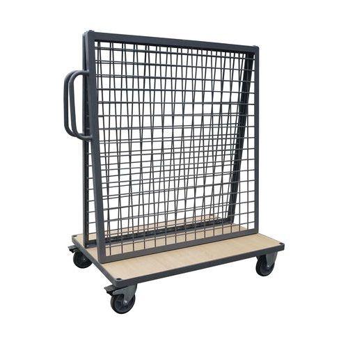 Vozík s nástavbou pro zavěšení materiálu Manutan, do 500 kg