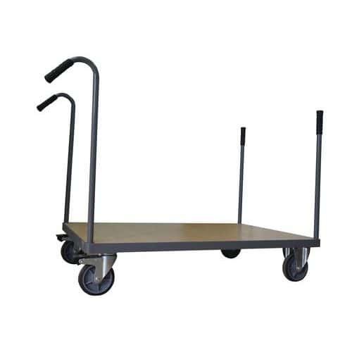 Plošinový vozík Manutan s trubkovými madly, do 500 kg