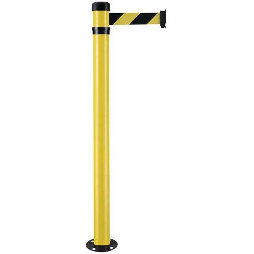 Zahrazovací sloupek s pásem Manutan Color, 2 m, žlutý/černý