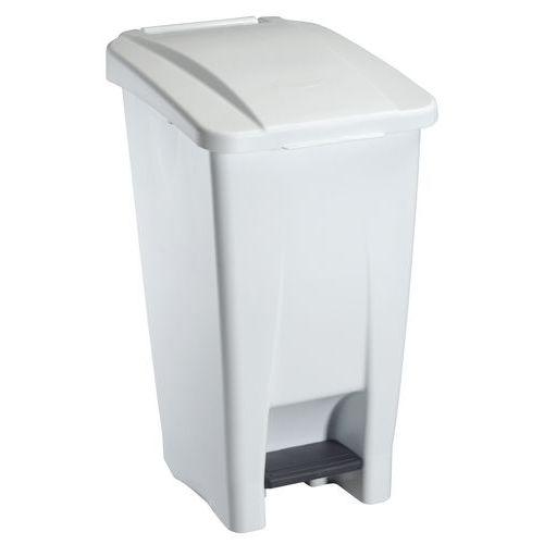 Plastový odpadkový koš Manutan, objem 60 l, bílý/bílý
