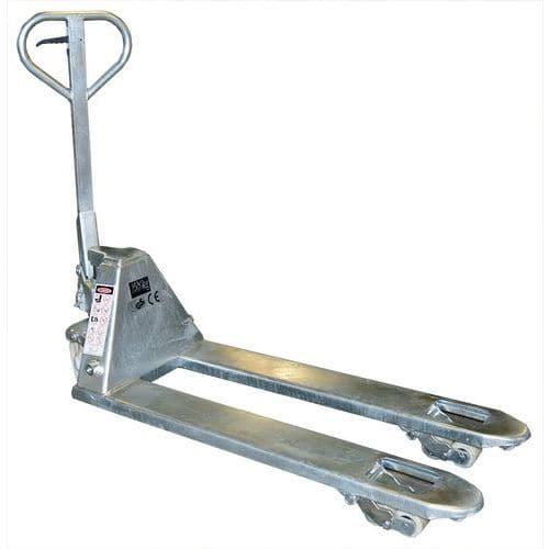 Paletový vozík, do 2 500 kg, nylonová řídicí kola - Prodloužená záruka na 10 let
