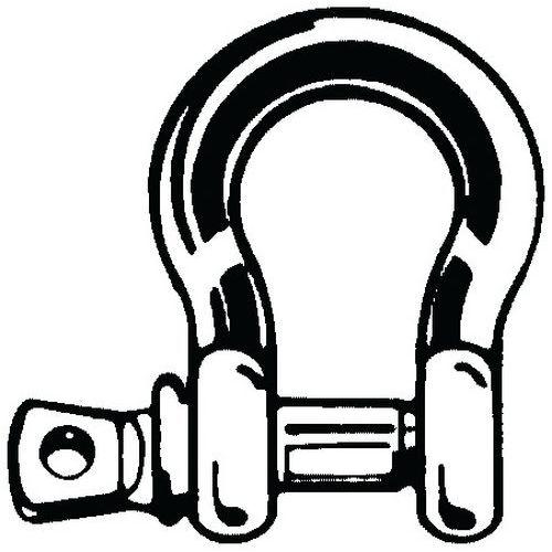 Obloukový (kotevní) článek se závitovým kolíkem s očkem Ocel Poz