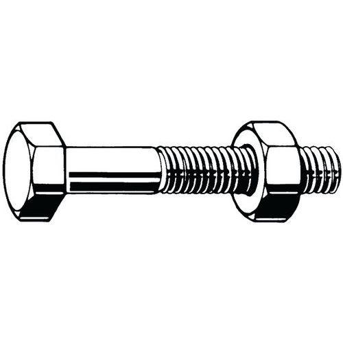 šroub pro ocelové konstrukce s montážním šroubem DIN 7990 Ocel Žárový zinek 4.6 ISO metrický