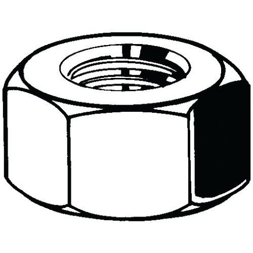 Hexagon nuts ASME B18.2.2 Ocel Bez PU Grade 5