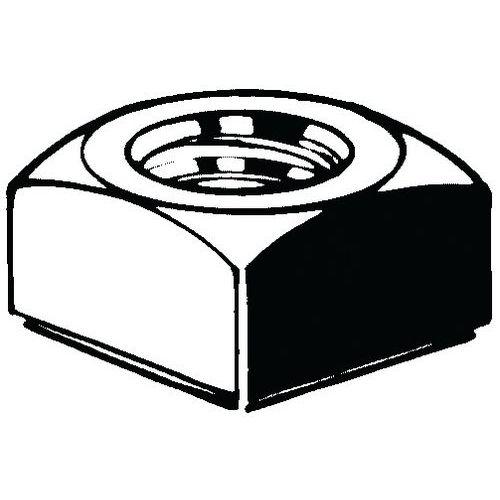 Čtyřhranná matice DIN 557 Ocel Pravý Pozinkované 5 M4