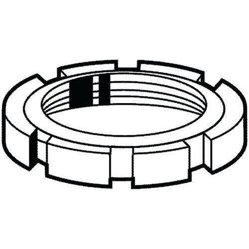 Kulatá matice s drážkou pro hákový klíč DIN 1804 W Ocel Pravý Be
