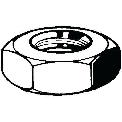 Pojistná matice soustružená UNC ASME B18.2.2 Automatová ocel Pra
