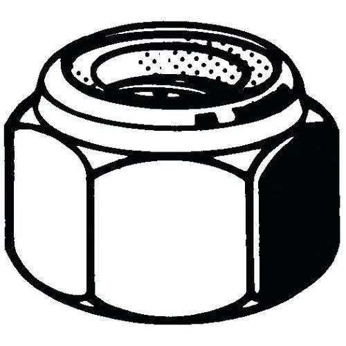 Samosvorná šestihranná matice s nekovovou vložkou BSW Ocel Pravý