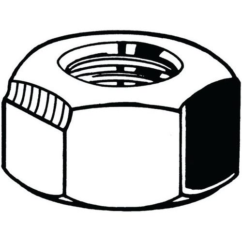 DIN 6925 Matice šestihranná samojistná, celokovová, metrická DIN 6925 Ocel Žárový zinek 8 ISO metrický