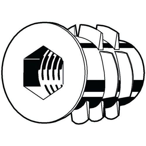Závitová vložka s vnitřním šestihranem a nákružkem typ SKDZ Zink