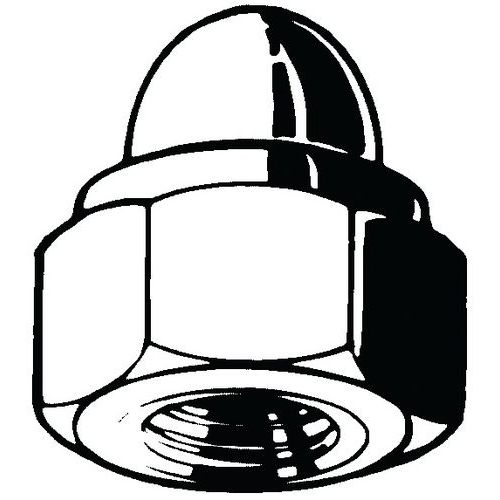 Samosvorná šestihranná kloboučková matice s nekovovou vložkou DI