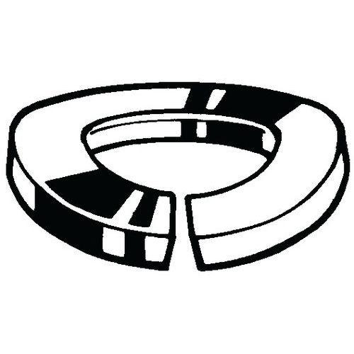 Prohnutá pružná pojistná podložka DIN 128 A Ocel Žárový zinek