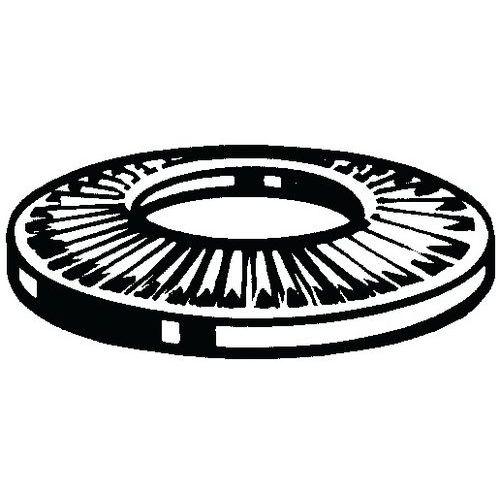 Kontaktní pojistná podložka, střední typ NF E25-511 Pružinová oc
