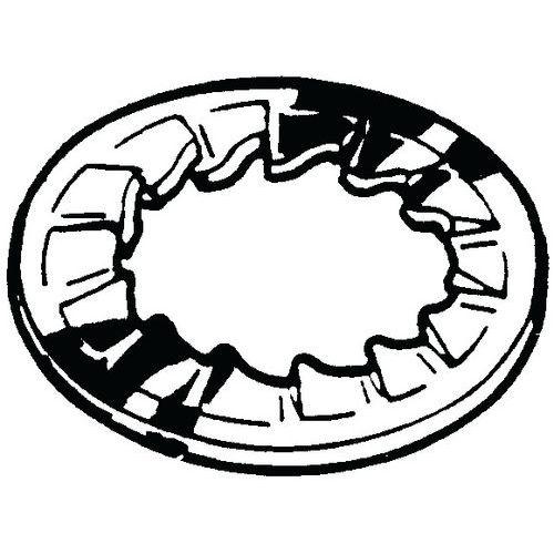 Pojistná vějířová podložka s vnitřním ozubením DIN 6798 J Pružin