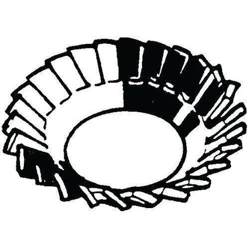 Zápustná vějířová pojistná podložka s vnějším ozubením DIN 6798