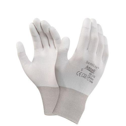 Povrstvené rukavice ANSELL SENSILITE, bílé