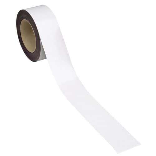 Magnetická páska na regály Manutan, 10 m, bílá, šířka 60 mm