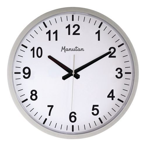 Analogové hodiny Q5 Manutan, autonomní quartz, průměr 40 cm