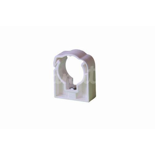Příchytka jednoduchá se třmenem 25mm bílá UNI, 50ks
