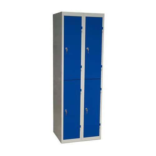 Montovaná šatní skříň DURO MONT, 4 boxy, cylindrický zámek, šedá