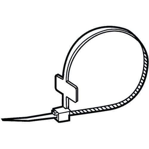 Kabelová spona se štítkem Plast Polyamid (nylon) PA 6.6