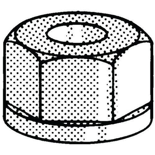 Samosvorná šestihranná matice plastová Plast Polyamid (nylon) PA 6.6