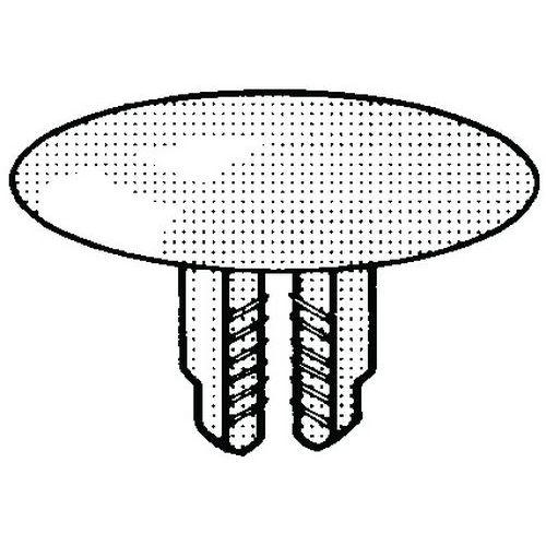 Ozubený nýt Plast Polyamid (nylon) PA 6.6