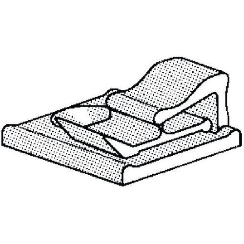 Plochá kabelová spona samolepicí Plast Polyamid (nylon) PA 6.6