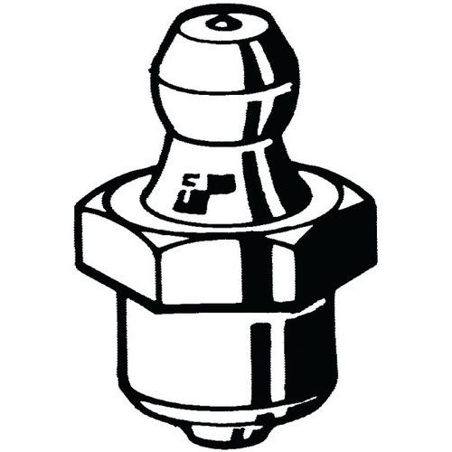 Mazací hlavice natloukací typ A/B/C Ocel Pozinkované 6MM-90°