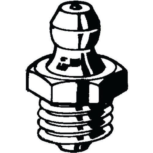 Mazací hlavice kuželový typ DIN 71412 Nerezocel A1 M10-180°