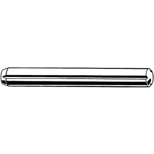 Rýhovaný kolík s rovnoběžným drážkováním po celé délce a zkosení