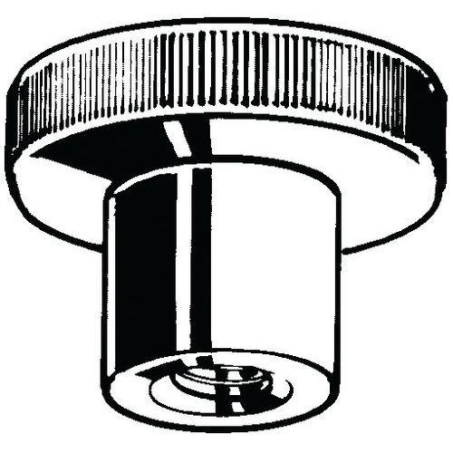 Rýhovaná ruční matice vysoká DIN 466 Nerezocel A1 Pravý M10