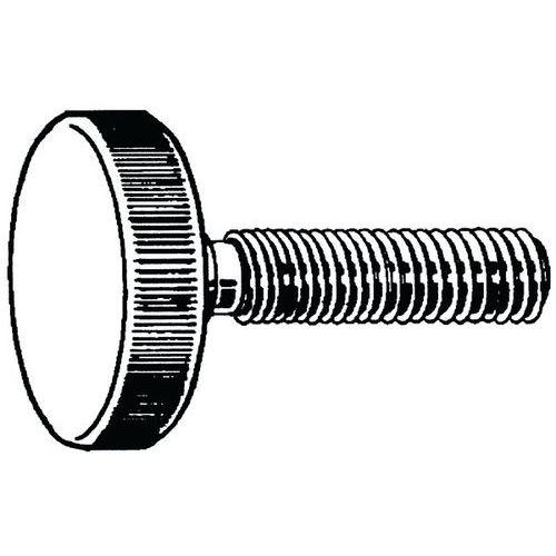 Rýhovaný palcový šroub nízký DIN 653 Nerezocel A1
