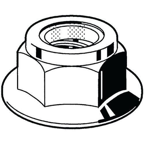 Samosvorná šestihranná nákružková matice s nekovovou vložkou DIN 6926 Nerezocel A4 70