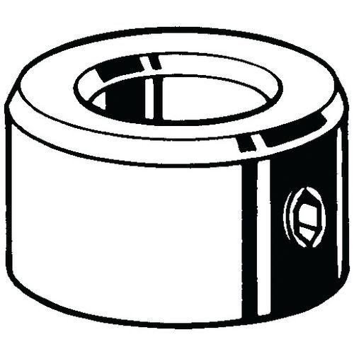 Svorkový kroužek se 2 stavěcími šrouby DIN 705A/2 x ISO 4027 (DIN 914) DIN 705 A/ISO 4027 (DIN 914) Nerezocel
