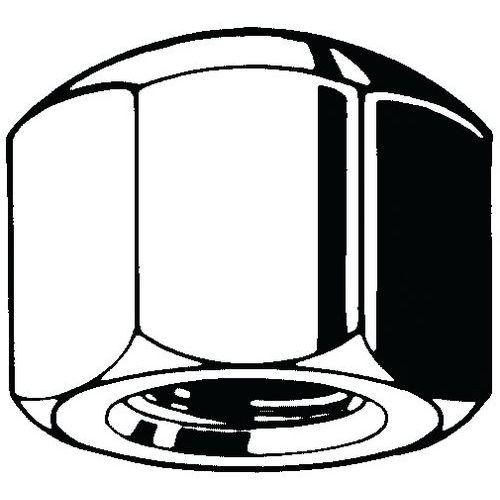 Šestihranná uzavřená matice nízká DIN 917 Nerezocel A4 Pravý 50
