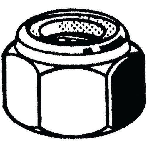 Samosvorná šestihranná matice s nekovovou vložkou DIN 985 Nerezo