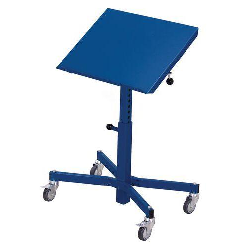 Transportní zvedací stojan s nastavitelným náklonem stolu, do 15