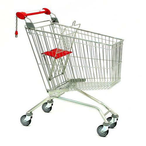 Nákupní vozík s dětskou sedačkou